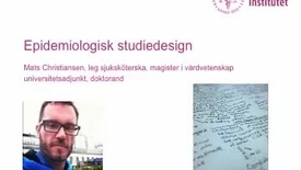 Thumbnail for entry Epidemiologisk studiedesign