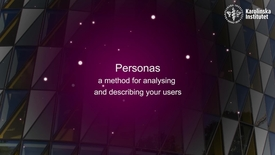 Thumbnail for entry eHealth Personas - a method of analysing and describing your users