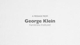 Thumbnail for entry Georg Klein thanks the Concern Foundation and the Cancer Research Institute