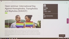 Thumbnail for entry International Day Against Homophobia