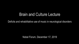 Thumbnail for entry Teppo Särkämö Brain and Culture Lecture December 17th at Nobel Forum: Deficits and rehabilitative use of music in neurological disorders