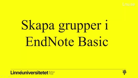 Thumbnail for entry EndNote - skapa grupper