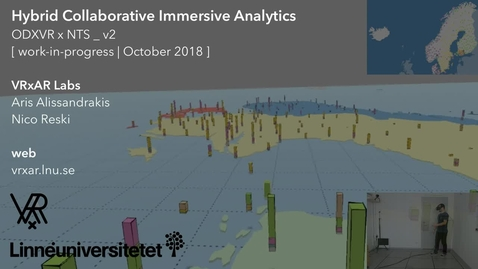Miniatyrbild för inlägg Hybrid Collaborative Immersive Analytics (WIP, October 2018)