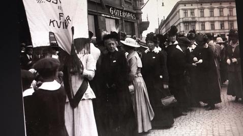 Thumbnail for entry 100 år sedan kvinnor fick rösträtt