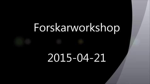 Thumbnail for entry Forskningsdata – hantering, publicering och upphovsrätt. En inspelning från ett halvdagsseminarium 2015-04-21.