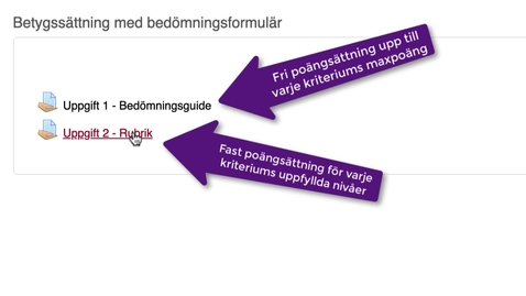 Miniatyr för inlägg Betygssättning med bedömningsformulär i MyMoodle