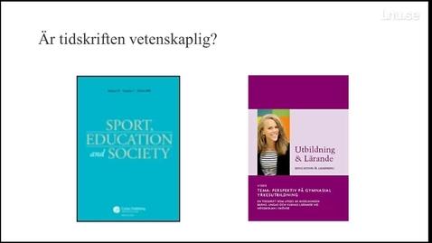 Thumbnail for entry Vetenskaplig tidskrift