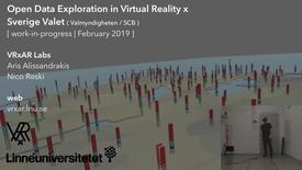 Miniatyrbild för inlägg Open Data Exploration in Virtual Reality x Sverige Valet (WIP, February 2019)