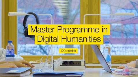 Miniatyr för inlägg Master programme in Digital humanities