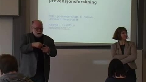 Thumbnail for entry Polis- och preventionsforskning i Norden, del 1, 2014-02-6