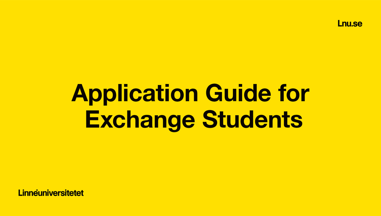 Application Guide for Exchange Students