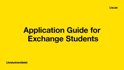 Miniatyr för inlägg Application Guide for Exchange Students