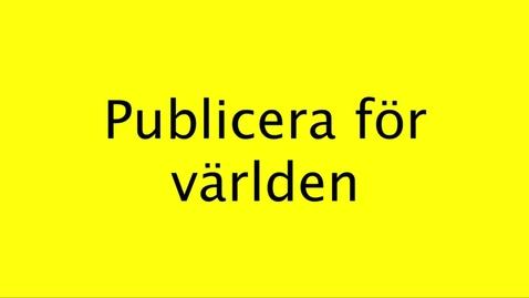 Miniatyrbild för inlägg Publicera för världen