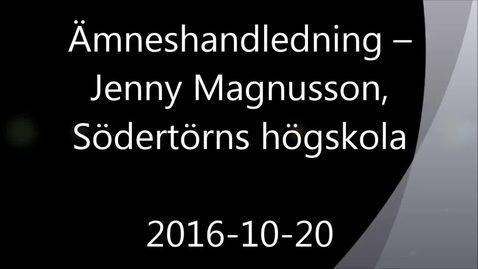 Miniatyrbild för inlägg Ämneshandledning - Handledning av självständiga arbeten (konferens) 2016-10-20