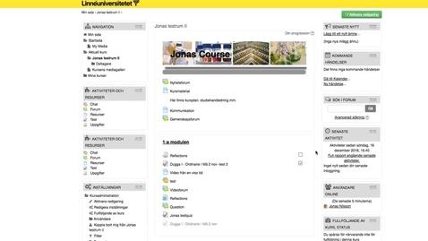 Thumbnail for entry Moodle - Flytta aktiviteter/resurser