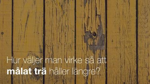 Thumbnail for entry Tinh forskar om interaktionen mellan färg och trä