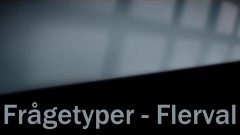 Thumbnail for entry Frågetyp Flerval