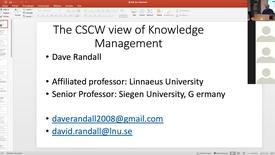 Miniatyrbild för inlägg KM lecture Dave Randall