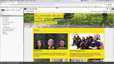 Thumbnail for entry Kalenderhändelser och nyheter