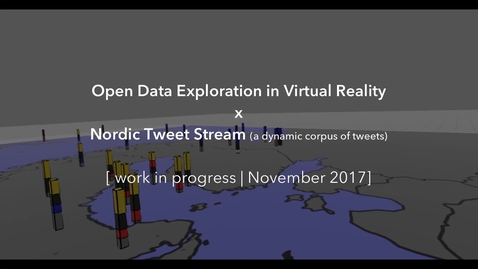 Miniatyrbild för inlägg Open Data Exploration in Virtual Reality x Nordic Tweet Stream (WIP, Nov. 2017)