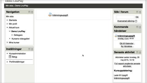 Thumbnail for entry Student i MyMoodle: Inlämningsuppgift med en eller flera filer