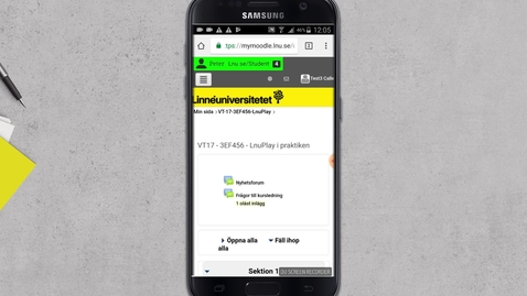 Thumbnail for entry Bädda in video i diskussionsinlägg från Mobil -Android