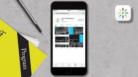 Thumbnail for entry Så här använder du appen Kaltura Mediaspace GO