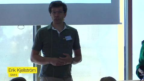 Miniatyrbild för inlägg Erik Kjellström, SMHI - Havet och klimatet - vad väntar i framtiden?