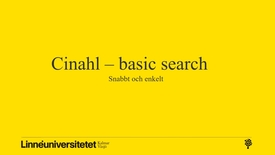 Miniatyrbild för inlägg Cinahl - basic (snabbt och enkelt)