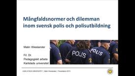 Miniatyrbild för inlägg Ordningsmakter inom ordningsmakten - om blivande polisers samtal om mångfald