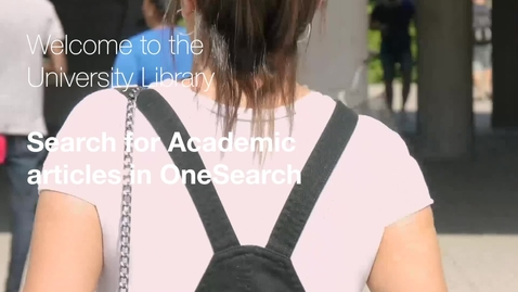 Thumbnail for entry Search for academic articles in OneSearch