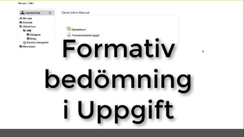Miniatyr för inlägg Formativ bedömning med Uppgift