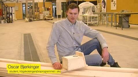 Miniatyrbild för inlägg Oscar läser till ingenjör i skog och träteknik