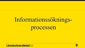 Miniatyrbild för inlägg Informationssökningsprocessen