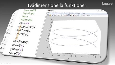 Miniatyr för inlägg Tvådimensionella funktioner, mesh och meshgrid