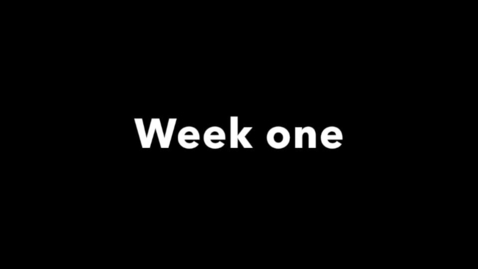 Thumbnail for entry week one