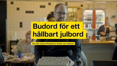 Miniatyr för inlägg Budord för ett hållbart julbord