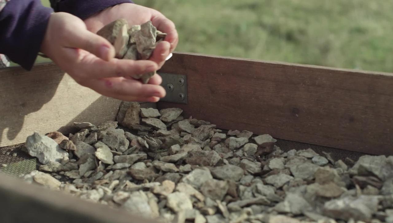 Arkeologistudenter är med och gräver ut Sandby borg på Öland