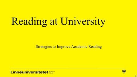 Miniatyrbild för inlägg Reading strategies