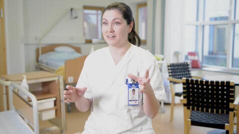 Thumbnail for entry Malin läser Sjuksköterskeprogrammet