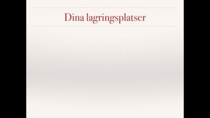 Video thumbnail for Fillagring inom Lnu 4532f5b7f9f59