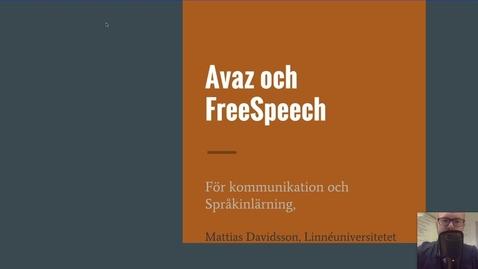Miniatyrbild för inlägg Avaz och FreeSpeech