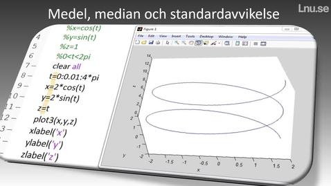 Miniatyr för inlägg Medel median och standardavvikelse hur beräknar man det i Matlab?