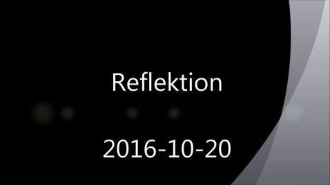Thumbnail for entry Reflektion - Handledning av självständiga arbeten (konferens) 2016-10-20