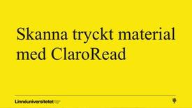 Miniatyrbild för inlägg Skanna tryckt material med ClaroRead