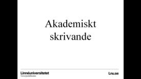 Miniatyrbild för inlägg Akademiskt skrivande