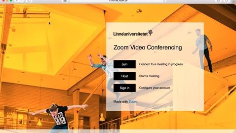 Thumbnail for entry Vad du kan göra på hemsidan för Zoom