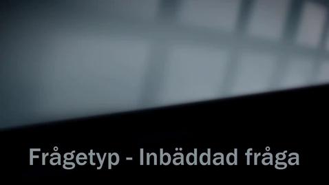 Thumbnail for entry Inbäddade frågor (cloze)
