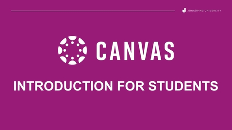 Thumbnail for entry Canvas Introduction guide for students