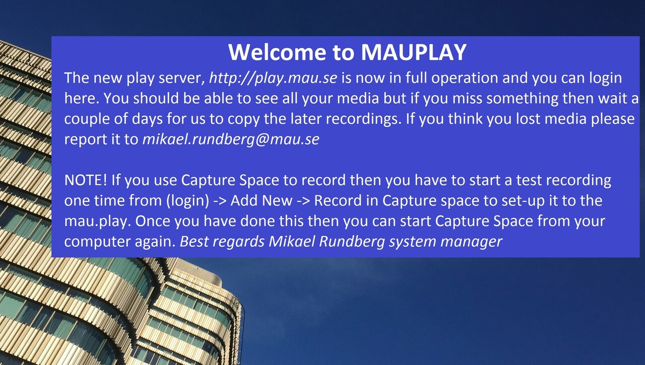 MauPlay is open!